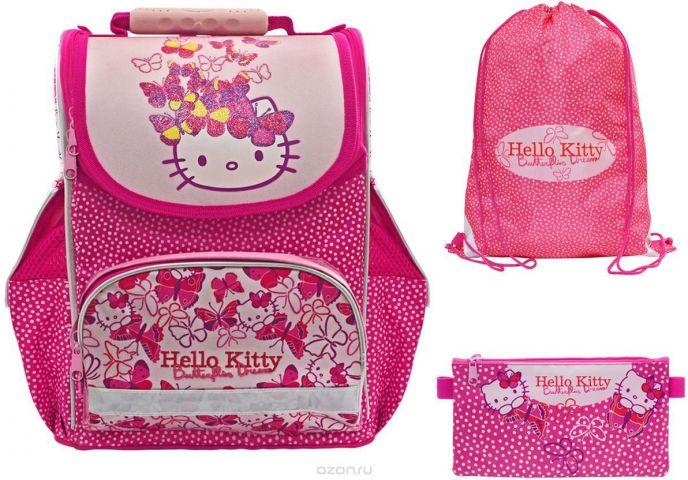 Action! Ранец школьный Hello Kitty с наполнением 2 предмета