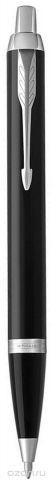 Parker Ручка шариковая IM Black CT цвет черный серебристый
