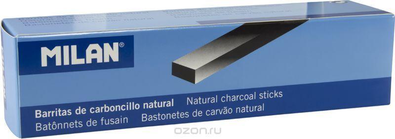 Milan Уголь для рисования прямоугольный 22-10 мм 3 шт