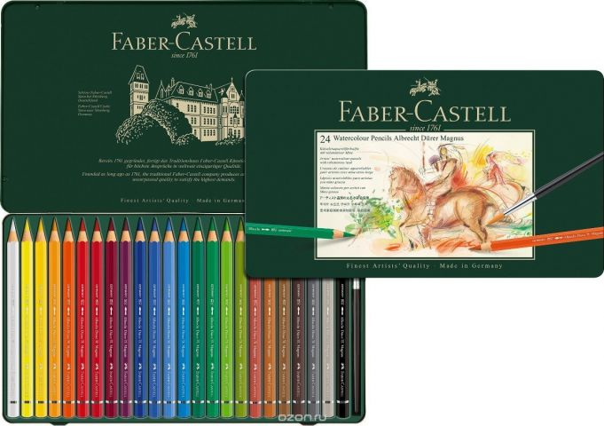 Faber-Castell Набор цветных акварельных карандашей Albrecht Durer 24 цвета