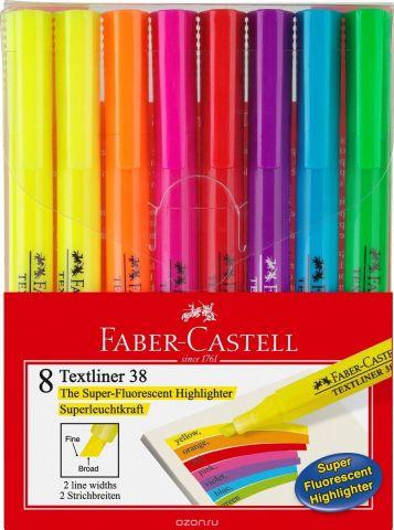 Faber-Castell Текстовыделитель 38 8 цветов