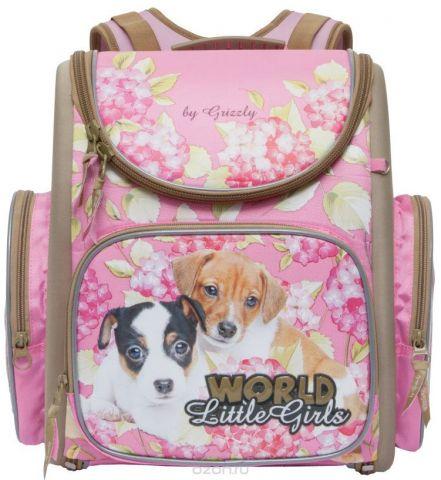 Grizzly Ранец школьный World Little Girls цвет розовый