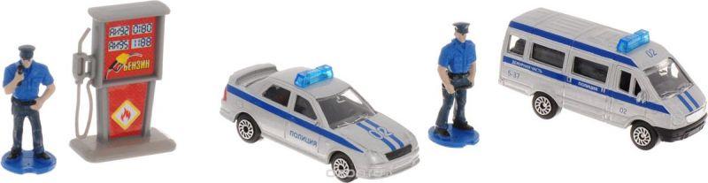 ТехноПарк Набор машинок Полиция с фигурками