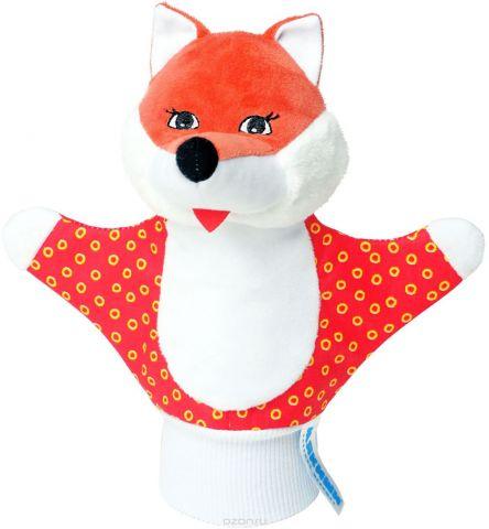 Мякиши Мягкая игрушка на руку Лисичка цвет красный