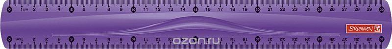 Brunnen Линейка цвет фиолетовый 30 см