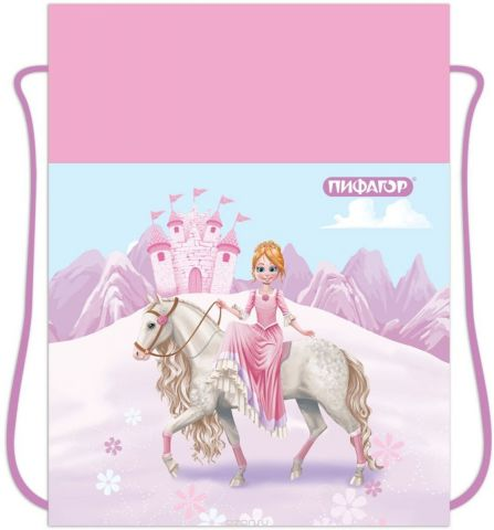 Пифагор Сумка для детской обуви Принцесса цвет фиолетовый