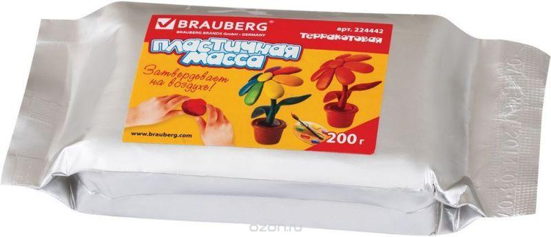 Brauberg Пластилин для моделирования цвет терракотовый 200 г
