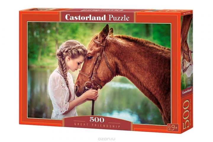 Castorland Пазл Девушка и лошадь
