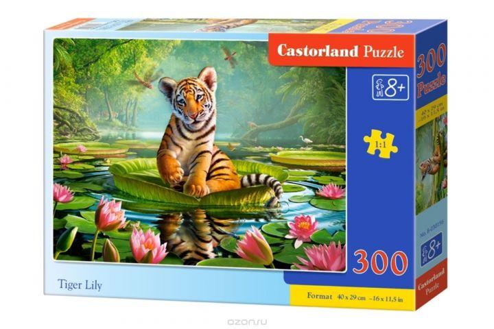 Castorland Пазл Тигренок на лилии