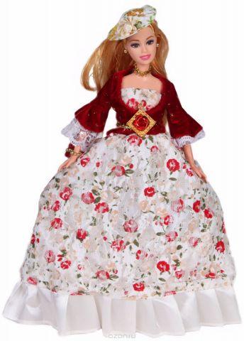 Yako Кукла Софи цвет платья белый бордовый