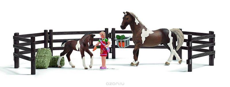 Schleich Игровой набор Кормление лошадей