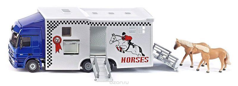 Siku Перевозчик Mercedes-Benz Actros для лошадей