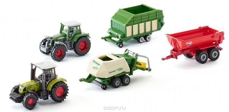 Siku Набор тракторов Claas и Fendt с прицепами