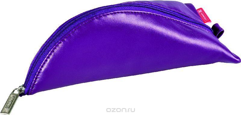 Brunnen Пенал на молнии цвет фиолетовый 19 х 10 см