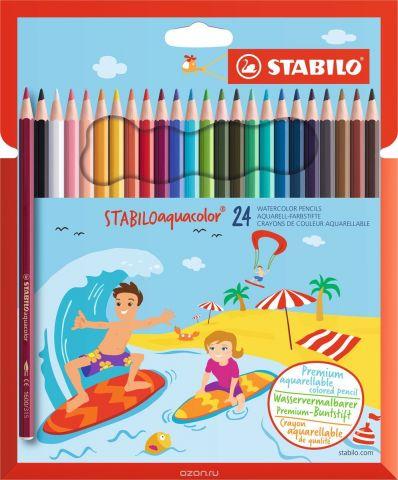STABILO Набор акварельных карандашей Aquacolor 24 цвета