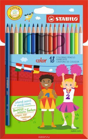 Stabilo Набор цветных карандашей Color 18 цветов