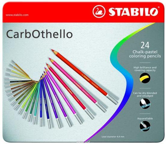 Stabilo Пастельные карандаши CarbOthello 24 цвета