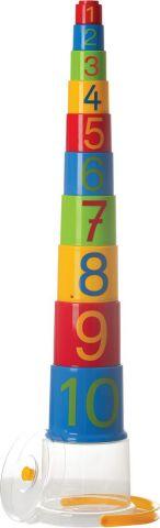 Gowi Набор игрушек для песочницы Ведерко-пирамидка Цифры 10 шт