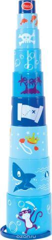 Gowi Набор игрушек для песочницы Ведерко-пирамидка Пират 9 шт