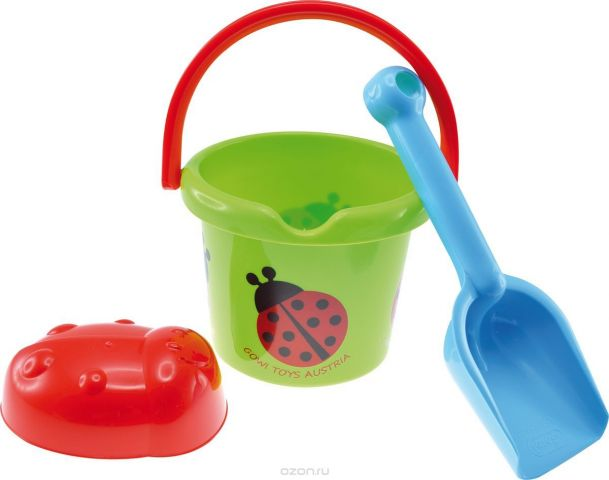 Gowi Набор игрушек для песочницы Ведерко совочек формочка
