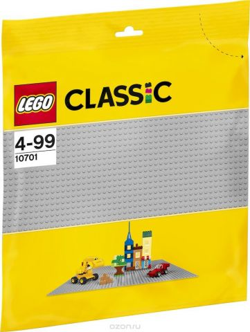 LEGO Classic Строительная пластина 38 х 38 цвет серый 10701