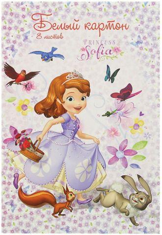Disney Картон белый София Прекрасна 8 листов