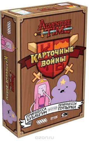 Hobby World Настольная игра Время приключений Карточные войны Принцесса Бубльгум против Принцессы Пупырки