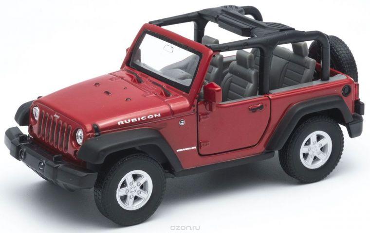 Welly Модель автомобиля Jeep Wrangler Rubicon