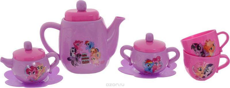 Играем вместе Игрушечный набор посуды My Little Pony цвет сиреневый розовый 7 предметов