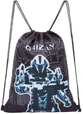Grizzly Мешок для обуви цвет черный OM-770-1