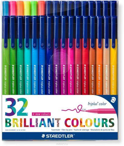 Staedtler Набор фломастеров Triplus Яркие цвета 32 цвета