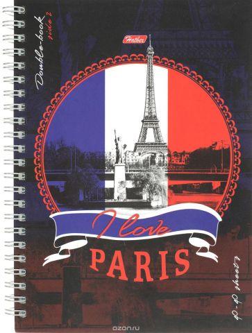 Hatber Тетрадь двойная Лондон Париж 80 листов в клетку