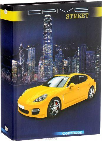 Феникс+ Тетрадь на кольцах Желтое авто 160 листов в клетку