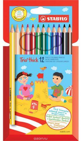 Stabilo Набор цветных карандашей Trio 12 цветов