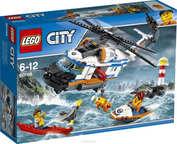 LEGO City Coast Guard Конструктор Сверхмощный спасательный вертолет 60166