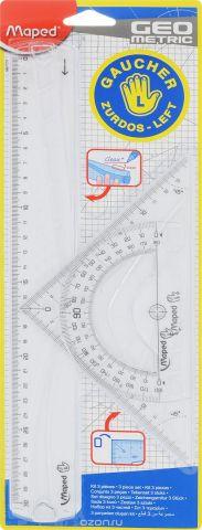 """Набор геометрический Maped """"Геометрик"""", для левшей, 3 предмета"""