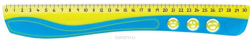 Maped Линейка Kidi Grip цвет желтый голубой 30 см