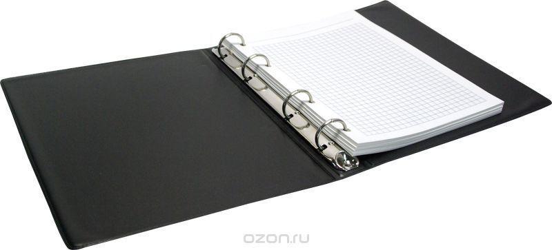 ArtSpace Тетрадь на кольцах 80 листов в клетку цвет черный
