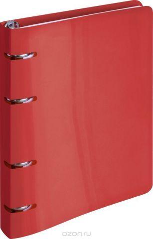 ArtSpace Тетрадь на кольцах 80 листов в клетку цвет красный ТК80п_10202