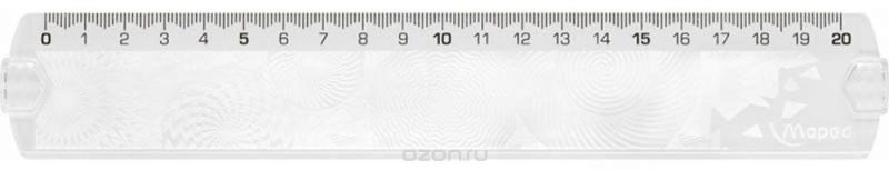 Maped Линейка Geocustom цвет прозрачный 20 см