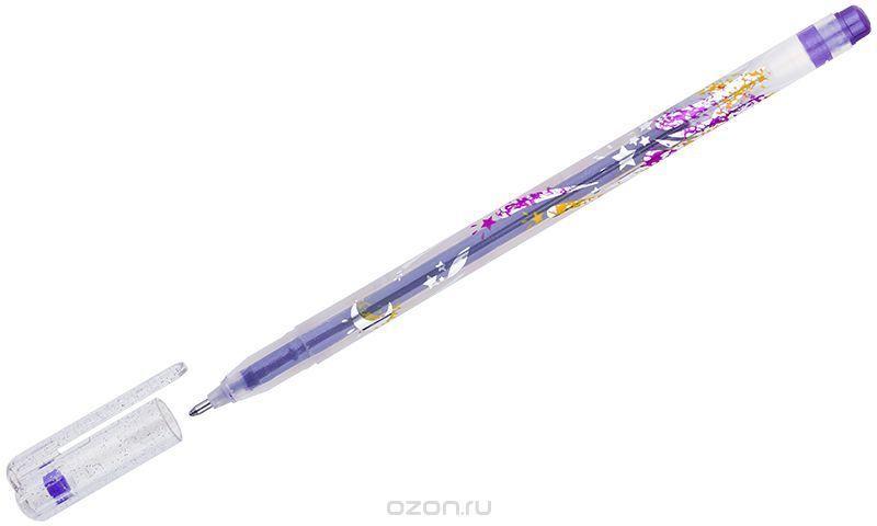 Crown Ручка гелевая Люрекс фиолетовая
