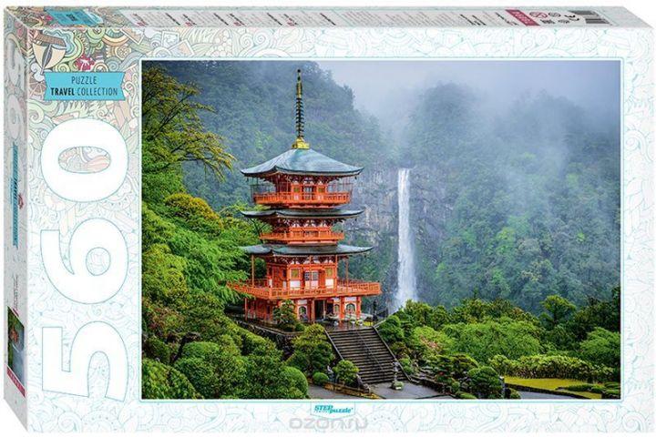 Step Puzzle Пазл Пагода у водопада