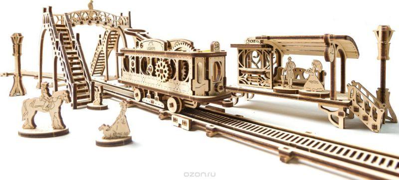 Ugears Сборная деревянная модель Трамвайная линия
