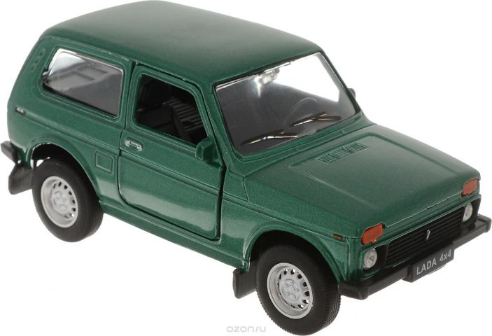 Welly Модель автомобиля LADA 4x4 цвет зеленый