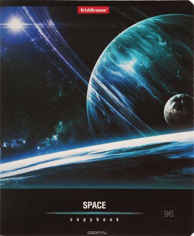 Erich Krause Тетрадь Вселенная 96 листов в клетку цвет цвет черный синий