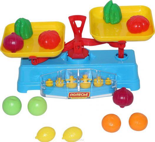 Полесье Игровой набор Весы и набор продуктов 12 элементов
