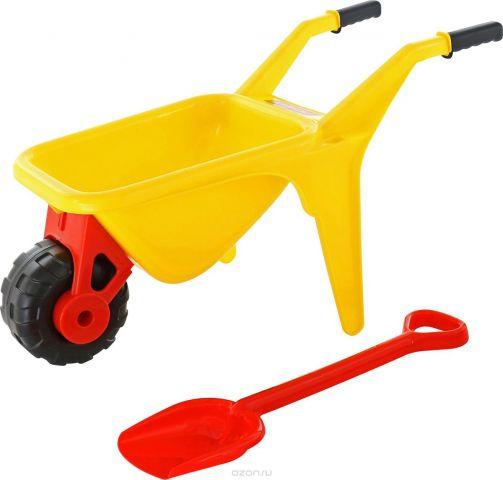 Полесье Набор игрушек для песочницы Тачка Садовод с лопатой