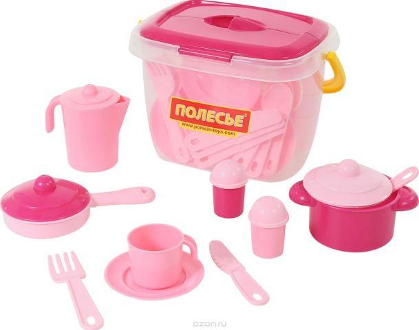 Полесье Набор игрушечной посуды Настенька 56566