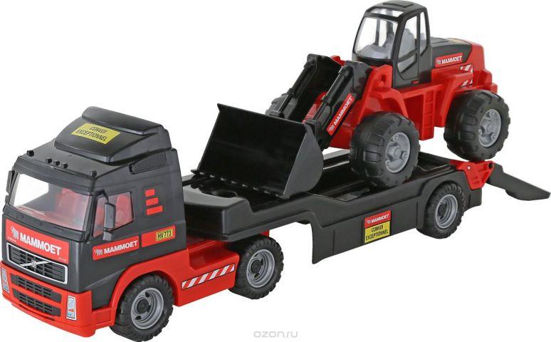 Полесье Трейлер Mammoet Volvo 204-03 и трактор-погрузчик