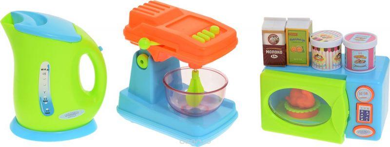 ABtoys Игрушечный кухонный набор цвет чайника салатовый